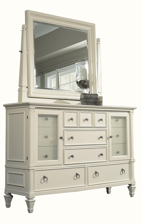 amazoncom magnussen ashby patina white finish wood dresser kitchen u0026 dining - Magnussen Furniture