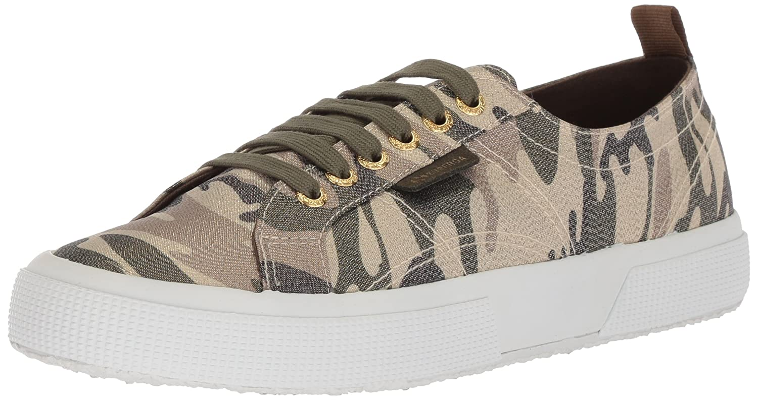 Superga Women's 2750 Lamecamow Sneaker B0777WX8DX 39 M US|Camouflage
