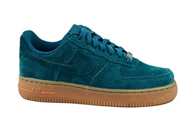 buy popular 73c9a 677aa Amazon.com | Nike Women's Air Force 1 '07 Suede Teal Blue ...