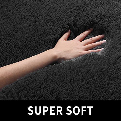 Black Super Soft Area Rug