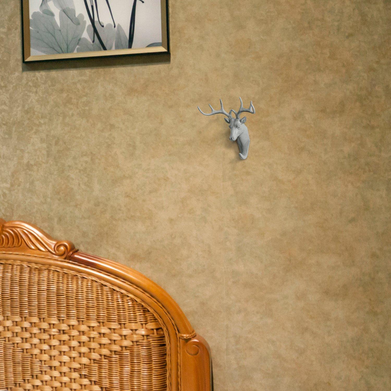 Amazon.com: HERNGEE Deer Head Single Wall Hook/Hanger Animal Shaped ...