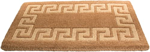 Imports Decor Coir Doormat, Greek Key, 24-Inch by 39-Inch