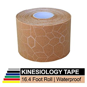 TheraBand Kinesiology Tape, Waterproof Physio Tape for Pain Relief, Muscle
