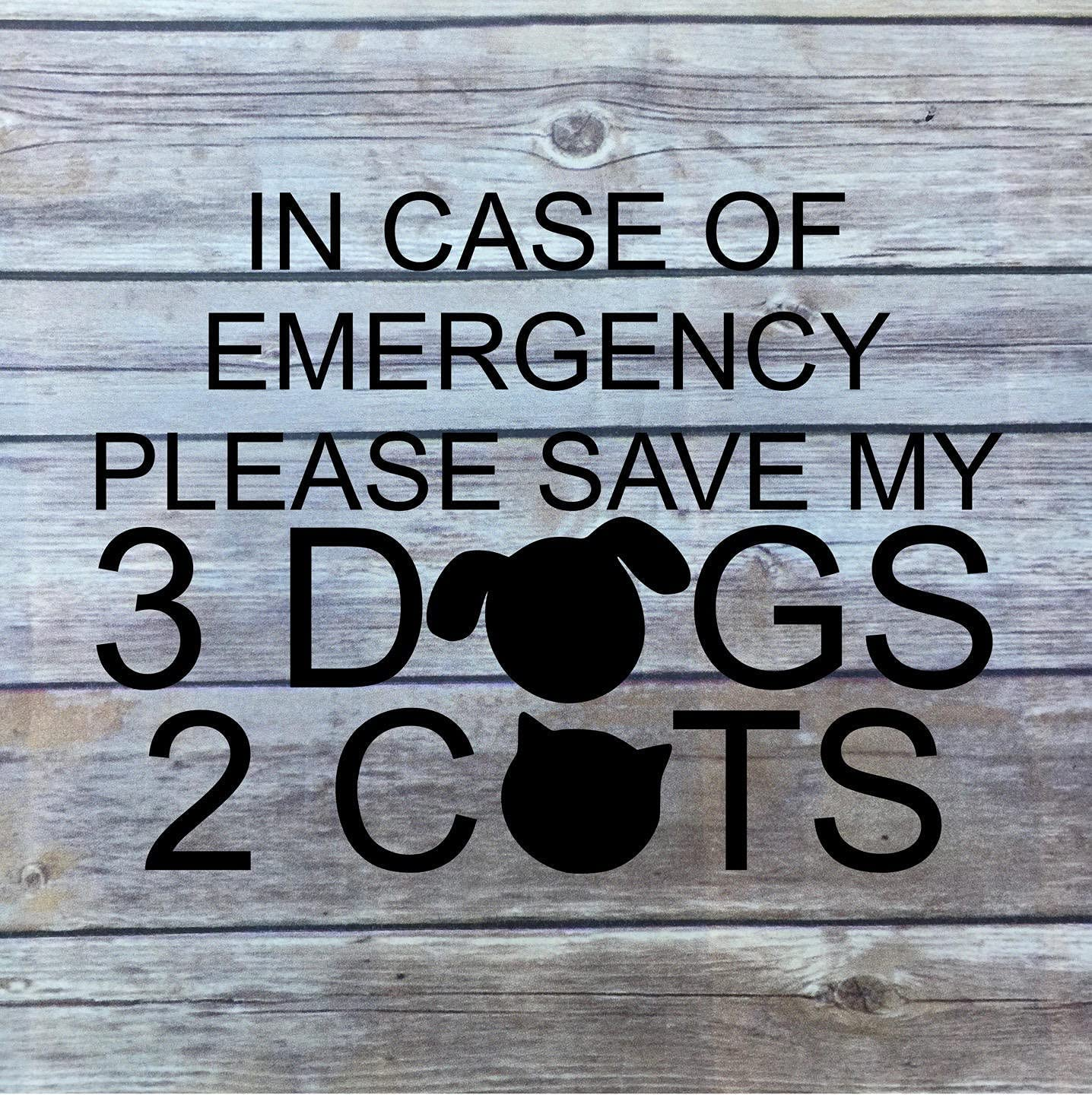 Funny Save My Pet Custom Decal in Case of Emergency Save My Dog Save My cat Car RV Home Camper Emergency Pet Alert Decal Fire Safety