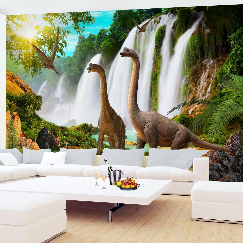100/% FABRIQU/É EN ALLEMAGNE 9191011b Tapisserie Photo Dinosaure 352 x 250 cm Laine papier peint Salon Chambre Bureau Couloir d/écoration Peinture murale d/écor mural moderne