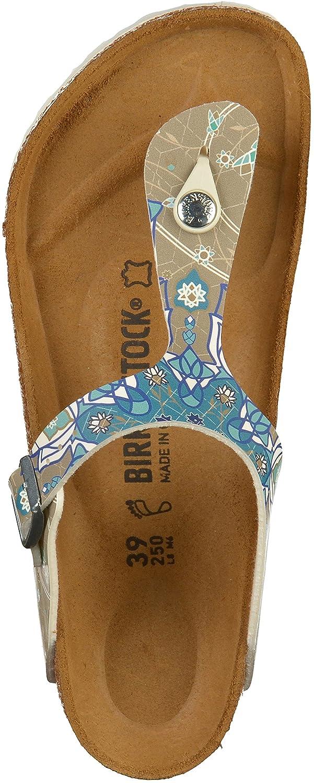 BIRKENSTOCK Damen Pantoletten Gizeh BF DD 1009806 Blau 413736