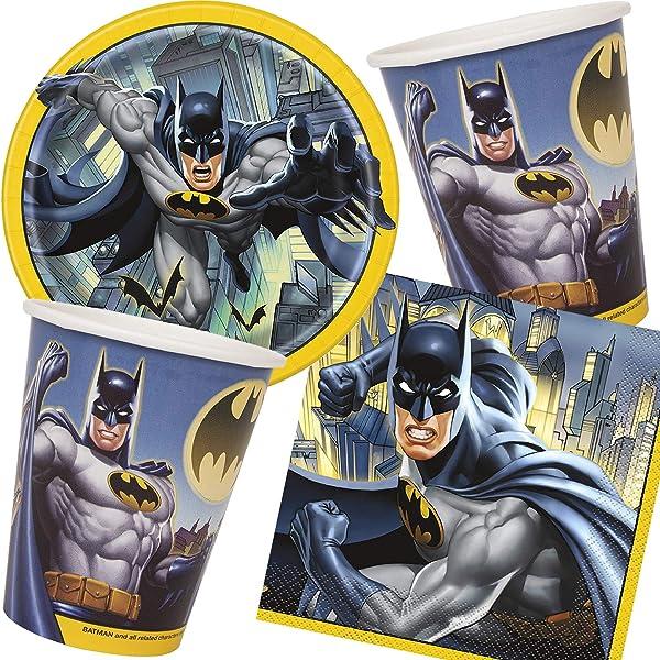 Set de Fiesta de 33 Piezas * Batman * para cumpleaños ...