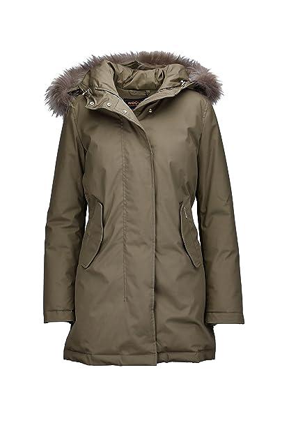 Woolrich Damen Mantel Beige Beige Amazonde Bekleidung