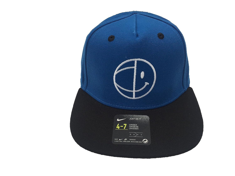 Amazon.com  Nike Boy`s Classic 99 Have A Nice Day Flat Brim Snapback Hat  (Blue Jay(8A2683-U72) White Black 23b3ca8a128