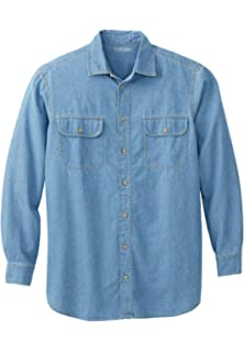 NEW Boulder Creek Mens Linen Pilot Button Shirt 79-5450-6 Blue 3XL Tall