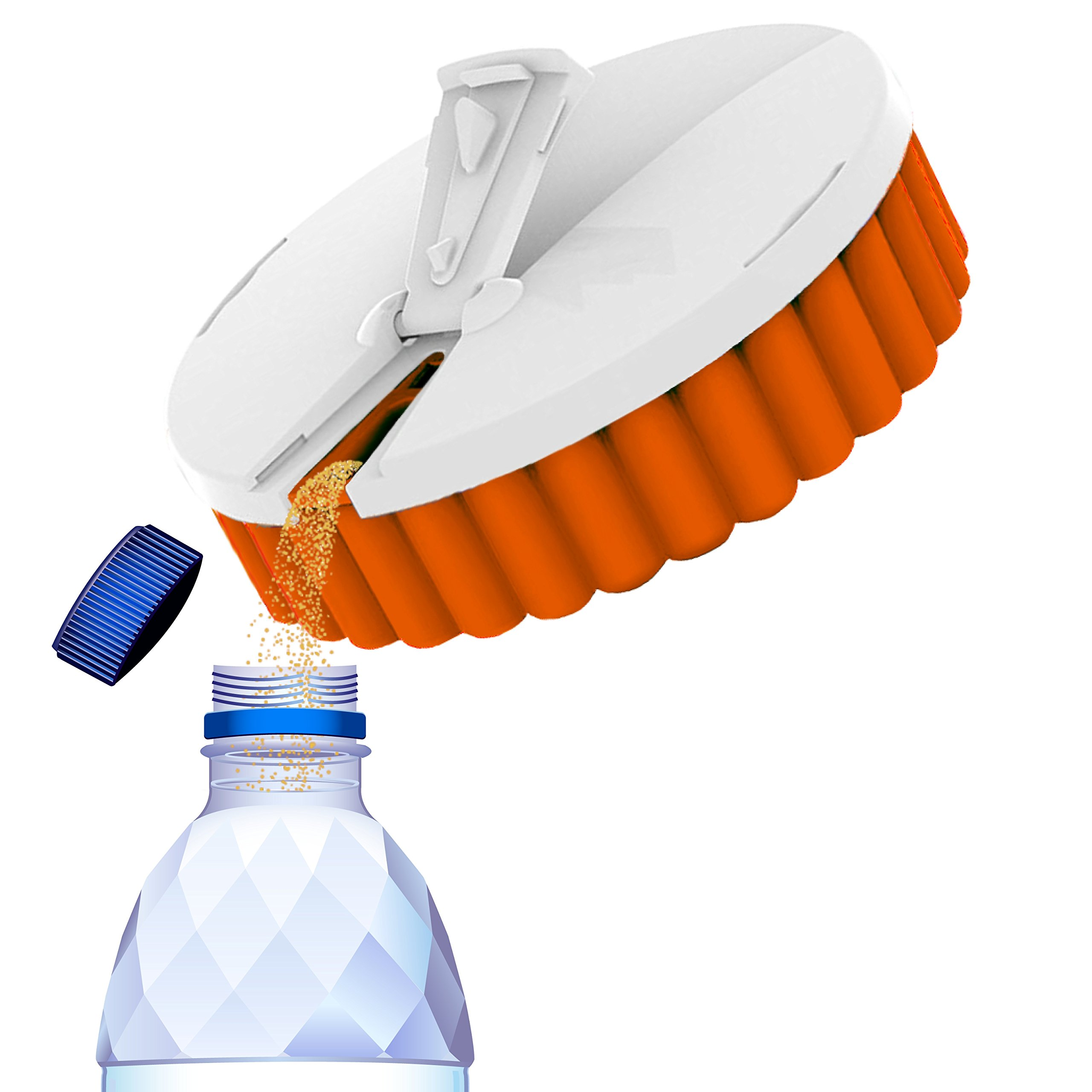 Tespo-Go Vitamin Dispenser | White | Attaches To Any Tespo Pod | Protects, Pierces and Dispenses Individual Servings From Tespo Pods | Non-BPA Recyclable Plastic