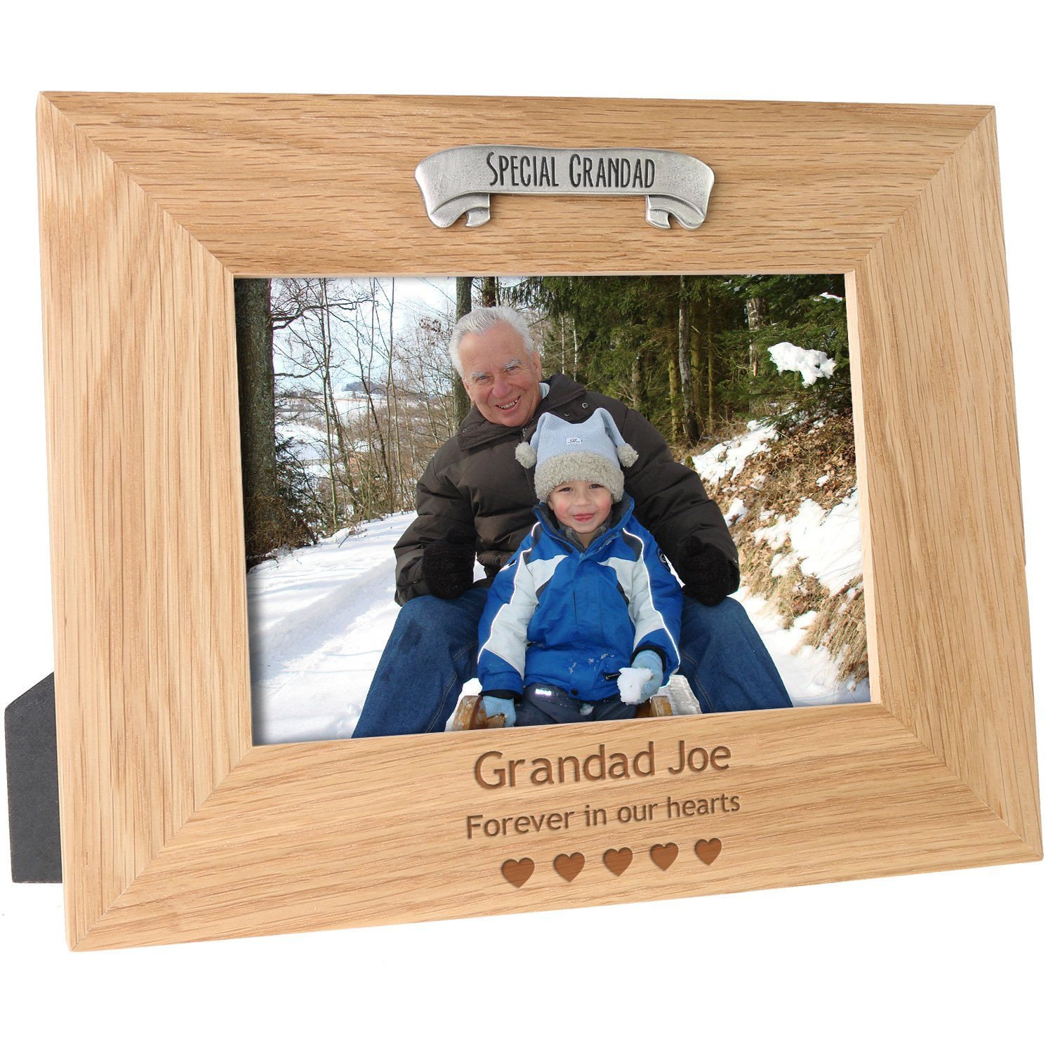 Deceased Special Grandad Memorial Personalised Engraved Solid Oak Photo Picture Frame Remembrance Gift De Walden