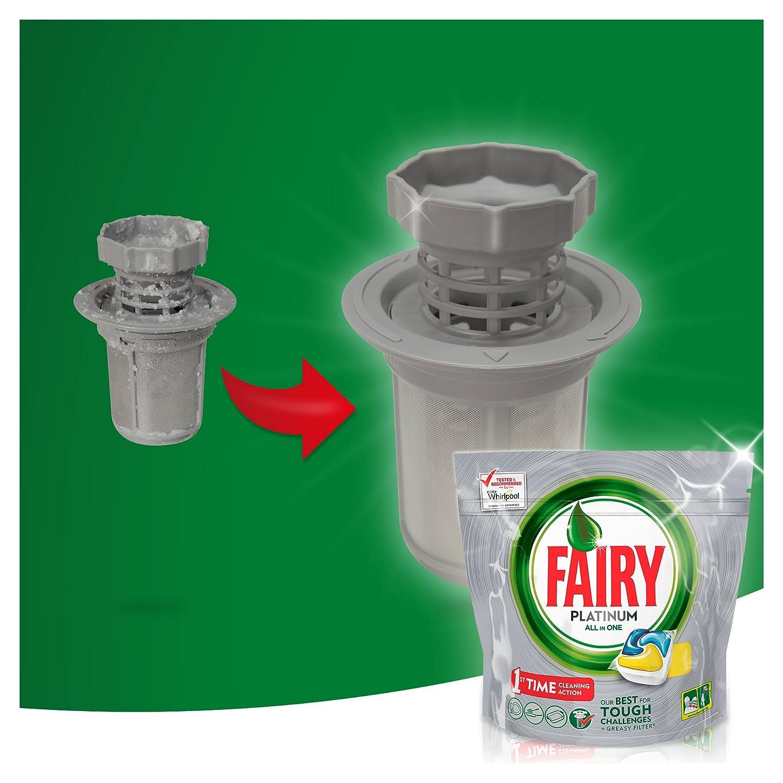 Fairy Platinum - Pastillas para lavavajillas, paquete Limón 63 ...