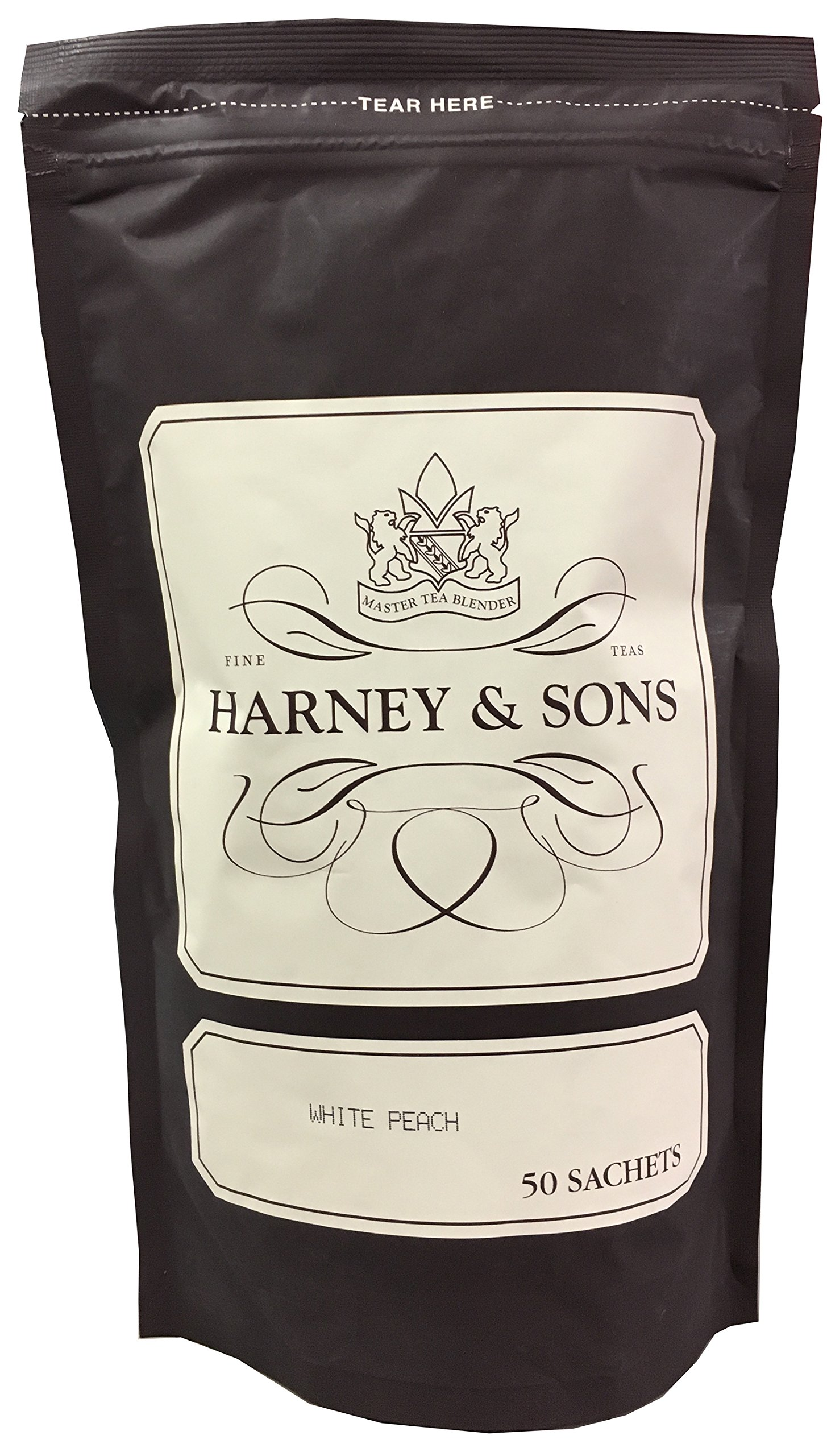 Harney & Sons Fine Teas White Peach Tea 50 Sachets