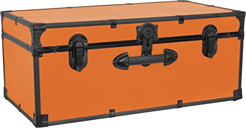 Simply-Me Luggage Sets 3 Piece Trolley Suitcase with TSA Lock,20 Inch 24 Inch 28 Inch Traveling Storage Luggage Sets with Spinner Wheels,Orange