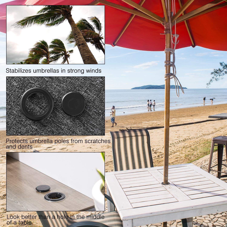 Do4u Ensemble de bague et capuchon de table de terrasse pour trou de parasol