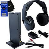 Sony MDRRF985RK Wireless RF (Radio Frequency) Headphone with Transmitter Base Station + Stereo Connecting Cable + AC adaptor + HeroFiber Ultra Gentle Cleaning Cloth