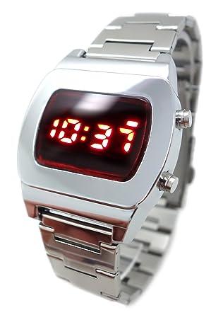 154b5b94f 70s STYLE Retro LED Watch 2013 Super Bright Vintage Style Chrome Silver  Digital TX08 Red Multi