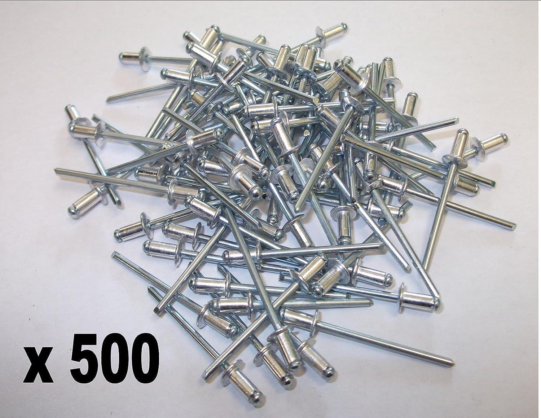3.2mm x 18mm Aluminium Blind Pop Rivets Open Dome Head Pack of 25
