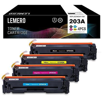 LEMERO 4 Cartuchos de Toner 203A 203X CF540A - CF543A CF540X ...