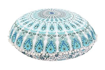 Amazon Large 32 Round Pillow Cover Decorative Mandala Pillow