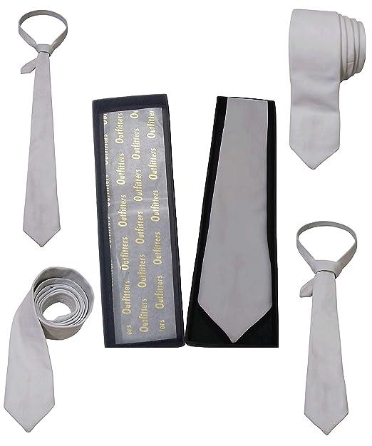 Corbata de cuero para hombre, clásica, color sólido, corbata ...