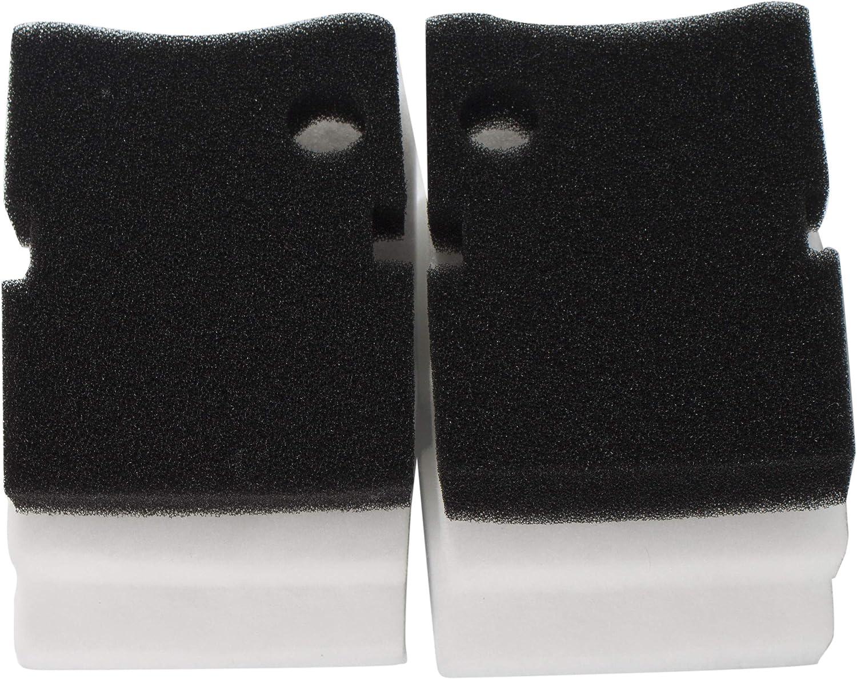 LTWHOME Compatible en Mousse Excellent et Cours Mousse Filtre M/édia Convient pour Hydor Professional Canister Filter 250//350 Paquet de 6