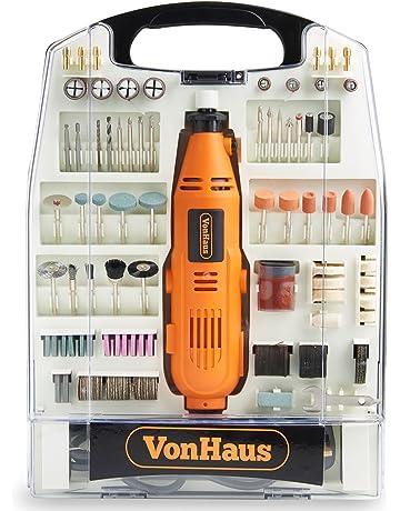 VonHaus Multiherramienta Amoladora Rotativa Oscilante 135 W – Juego de 232 piezas accesorios, Velocidades variables