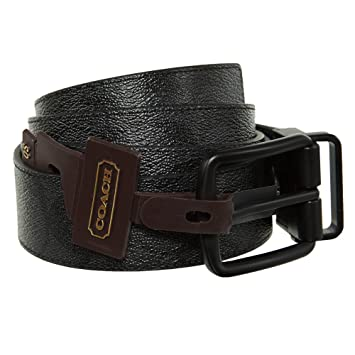 3904b9470b5ec Amazon.com  Coach Wide Harness Cut To Size Reversible Signature Coated  Canvas Belt