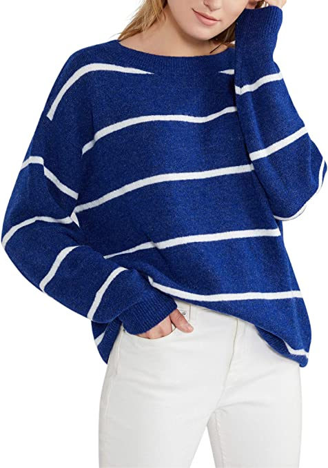 Womens Oversized Loose Knitted Sweater Long Sleeve