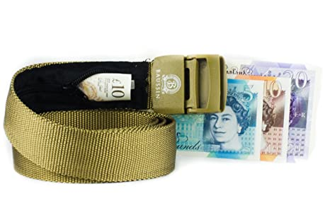 9c167106cfc Anti-Theft Money Belt with Secret Hidden Zipper (Camel) - Perfect for  Travelling