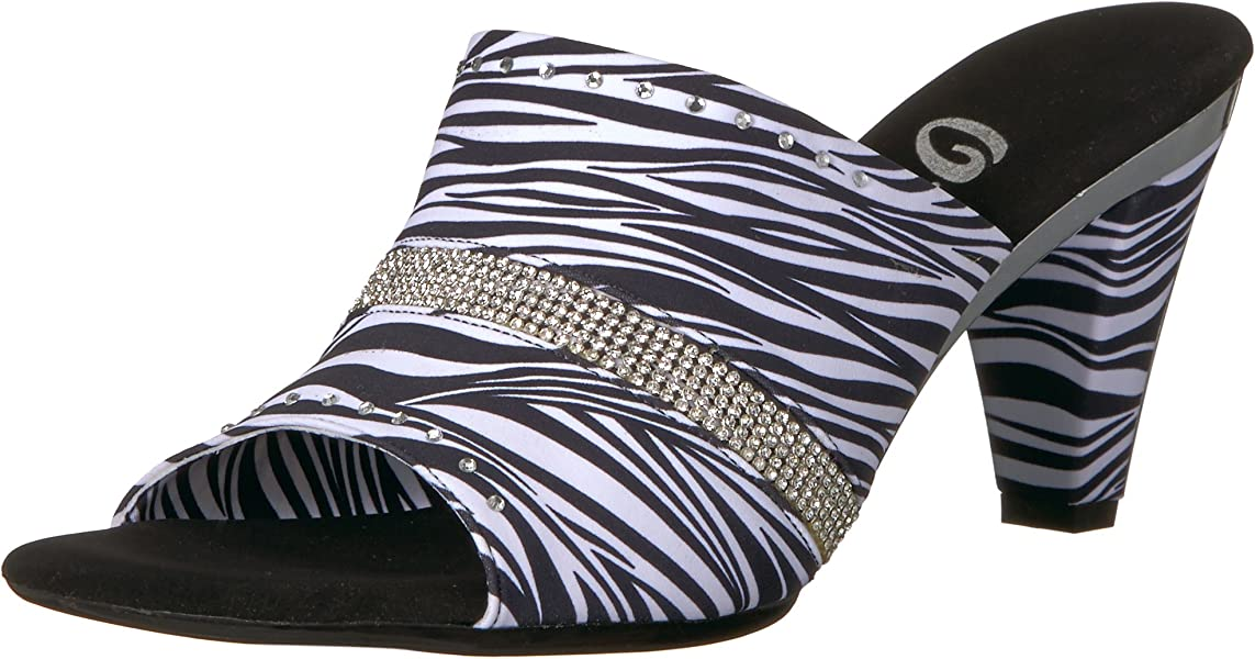 0c656a396a96 Onex Women s Giselle Heeled Sandal White Zebra 5 ...