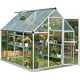 Palram Nature Series Hybrid Hobby Greenhouse - 6' x 8' x 7', Silver