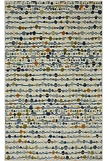 mohawk home strata delerus falls cool dotted printed area rug - Mohawk Area Rugs