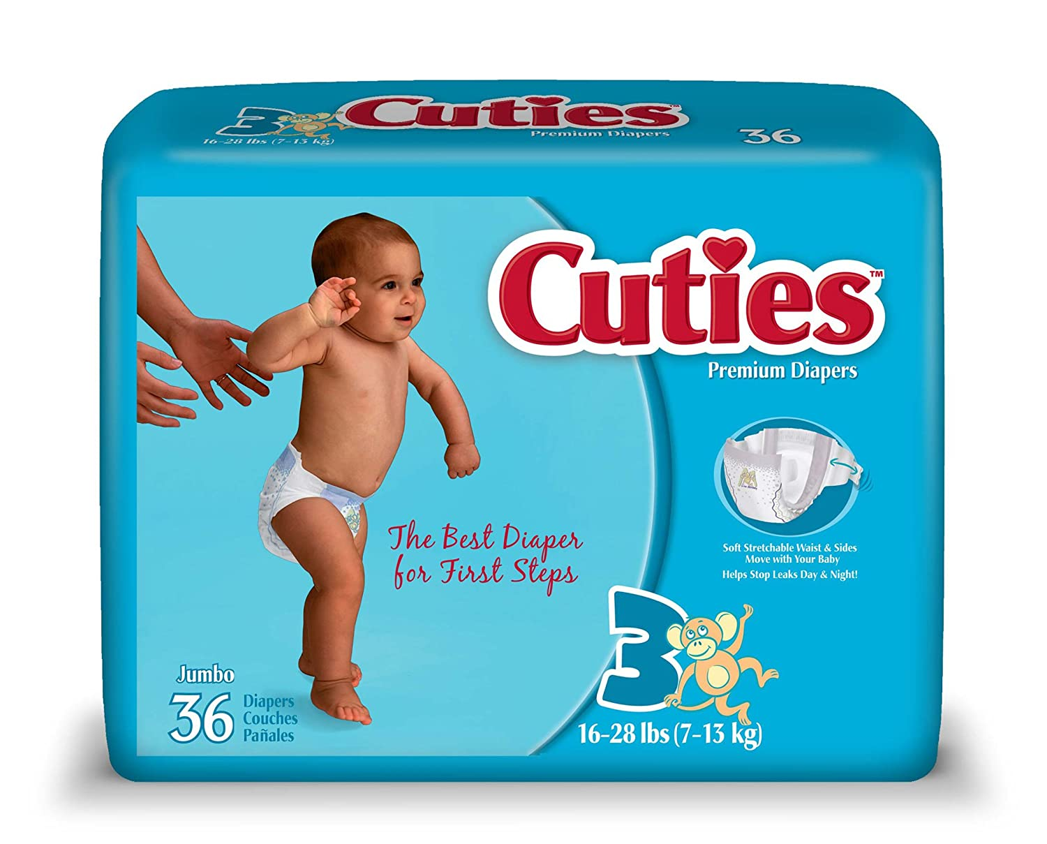 Amazon.com: Cuties Jumbo Pack Diaper, Size 3, 144 Count: Health & Personal Care