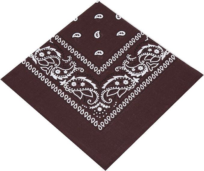 New BANDANA 55cm brown//white//red//black