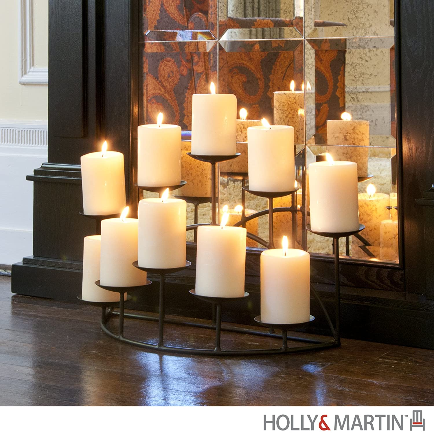 Preston Candelabra (Black) (11\H x 21.5\W x 10\D) Holly & Martin 719117