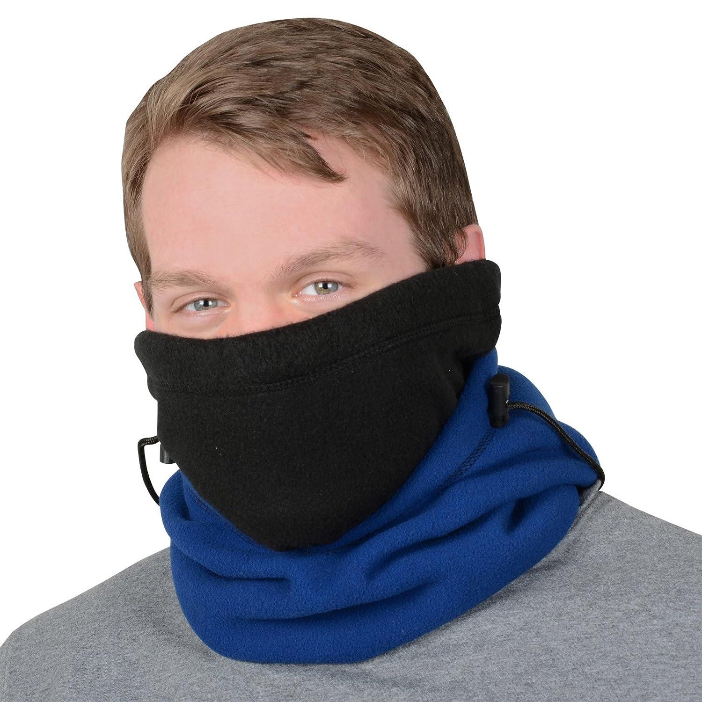 XSS Adults 6 in 1 Polar Fleece Hood Snood Balaclava Winter Warmer Ski Hat Scarf Mask