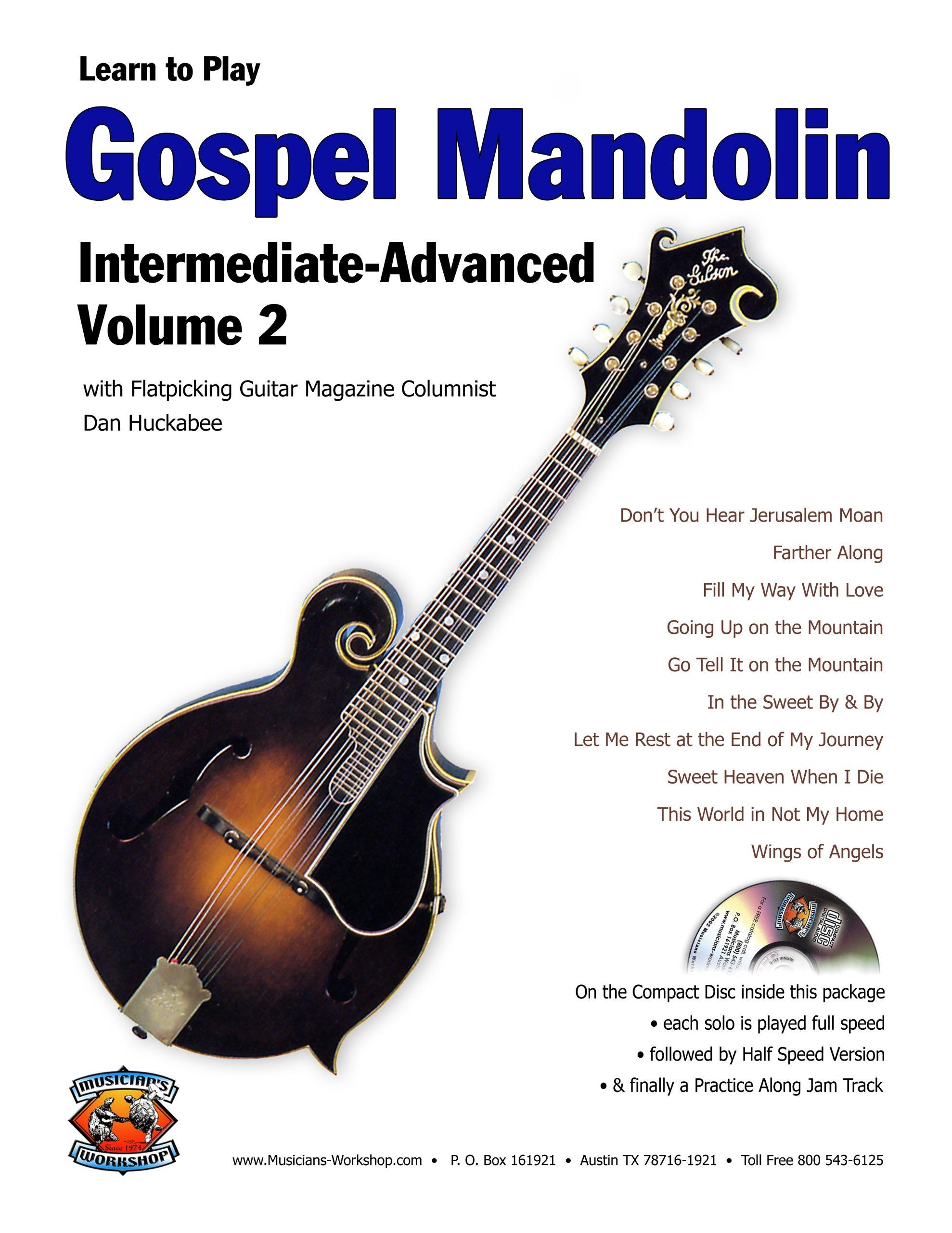Amazon com: Gospel Mandolin Intermediate Vol  2 (Book + CD