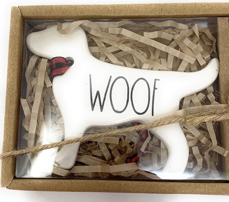 /& BEST FRIEND NEW set of 3 2019 Rae Dunn Dog Ornaments LOVE WOOF
