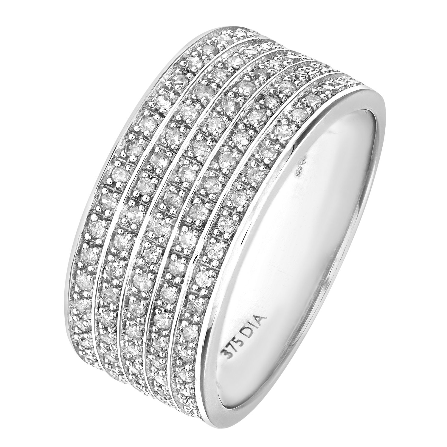 product normal bands gallery ring diamond lyst sterling multiband stella ippolita in jewelry band silver multi