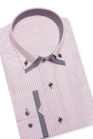 J S Designer Herren Hemd Doppelkragen, italienisches Slim-Fit-Shirt mit  Knopfleiste (verschiedenen Farben Größen): Amazon.de: Bekleidung