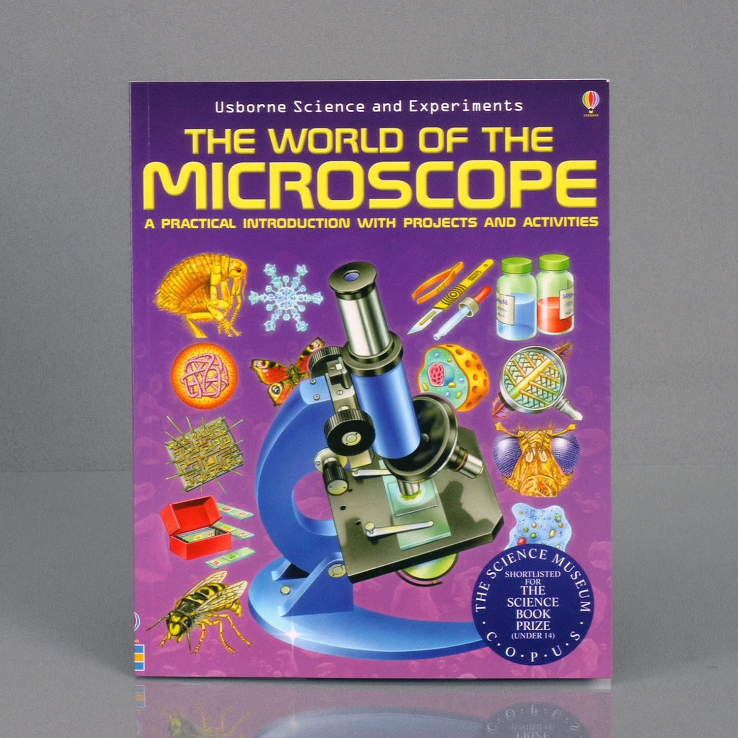 AmScope M60C-ABS-PS25-WM Beginner Microscope Kit Includes Case Mirror Illumination Set of 25 Prepared Slides WF10x and WF20x Eyepieces 40x-1000x Magnification and Book