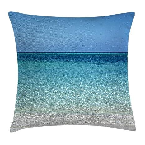 shizh Funda de cojín Almohada Aguas claras en la Playa en el ...
