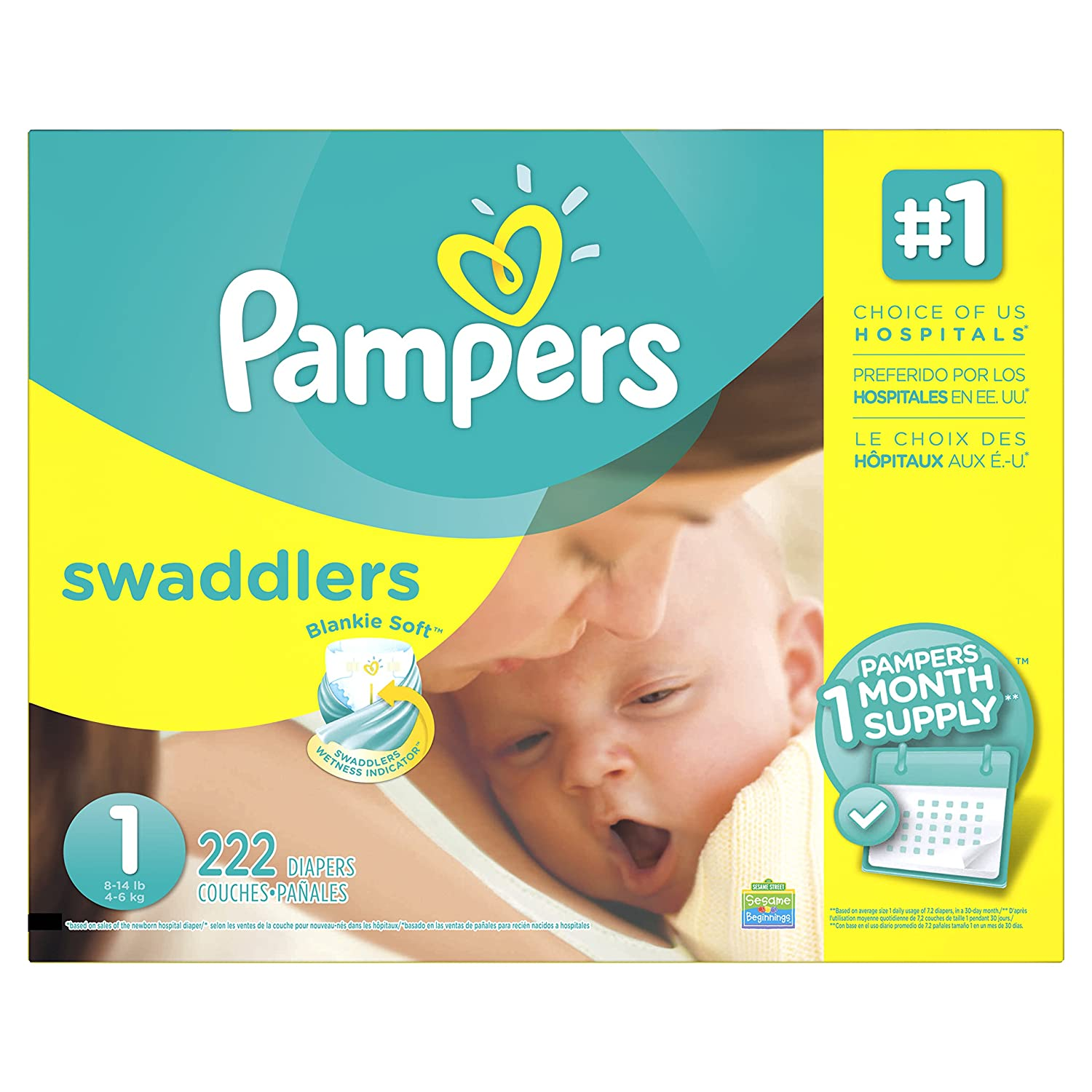 Pampers Swadlers size 1 10037000752957