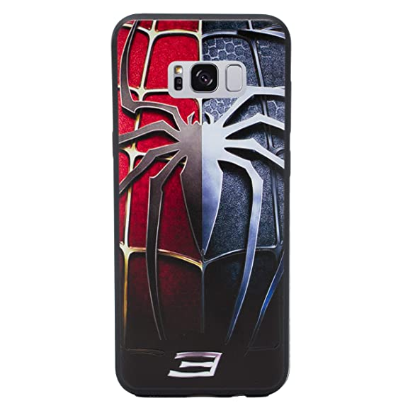 premium selection a0d47 eed0e Amazon.com: Galaxy S8 Plus 3D Marvel Silicone Phone Case/Gel Cover ...