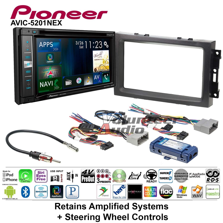 Volunteer Audio Pioneer AVIC-5201NEX Double Din Radio Install Kit with Navigation Apple Carplay Bluetooth Fits 2007-2008 Ram, 2006-2007 Chrysler 300 (Retains steering wheel controls)