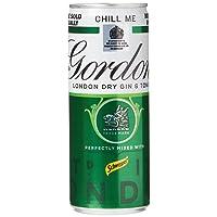 Gordon's Gin & Tonic Premix, 250 ml, Pack of 10