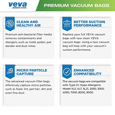 Amazon.com: VEVA - Bolsas de aspiradora SuperVac de alta ...