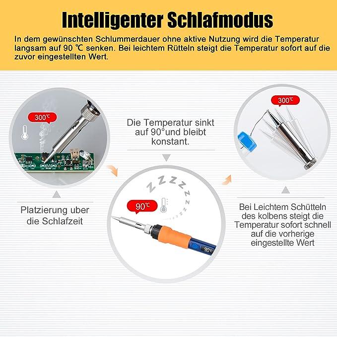 ESOLOM Profi Lötkolben Set,【Neuste Version】Elektronik Lötset mit ...